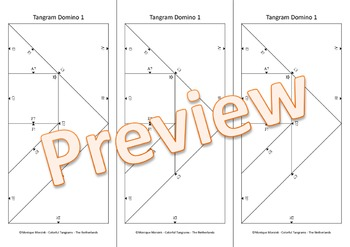Tangram Domino 1 - Editable Matching Game - Duck