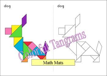 Tangram - Double Tangrams 1 - Math Mats
