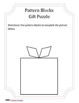 Pattern Blocks Gift Puzzle