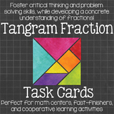 Tangram Fraction Task Cards  Math Centers
