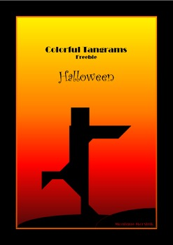 Tangram Freebie - Halloween Puzzle / Mummy - Puzzle Cards & Math Mats