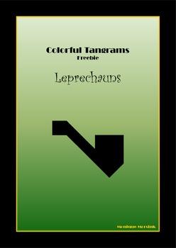 Tangram Freebie - St. Patrick's Day Puzzle / Pipe - Math M