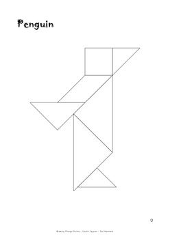 Tangram Freebie - Winter Puzzle / Penguin - Math Mats & Puzzle Cards