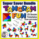 Tangram Printables: Tangram Puzzle Bundle - 25 Logic Puzzles