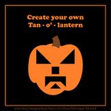Tangram Halloween Pumpkins & Create your own Tan-O'-Lantern