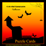Tangram - 20 Halloween Puzzles - Puzzle Cards