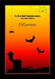 Tangram - 20 Halloween Puzzles - Math Mats, Puzzle Cards & Activities