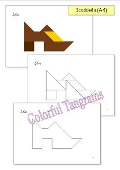 Tangram - 20 Leprechauns / St. Patrick's Day Puzzles - Puzzle Cards & Math Mats