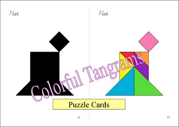 Tangram - 20 Leprechauns / St. Patrick's Day Puzzles - Puzzle Cards & Pieces
