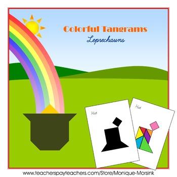 Tangram - 20 Leprechauns / St. Patrick's Day Puzzles - Puz