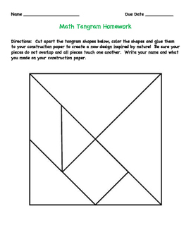 Tangram Math Homework