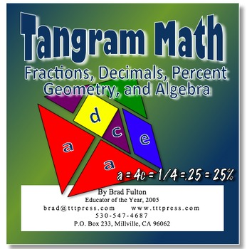 Tangram Math: Integrating Fractions, Decimals, Percent, Geometry, and Algebra