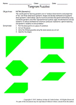 Tangram Mystery Picture and Puzzles