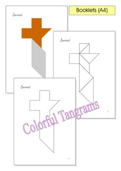 Tangram - 20 Pirate Puzzles - Puzzle Cards & Math Mats