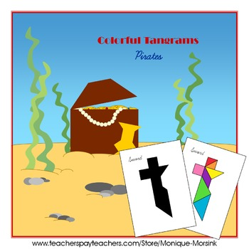 Tangram - 20 Pirate Puzzles - Puzzle Cards and Pieces