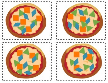 Tangram Pizza Matching Cards