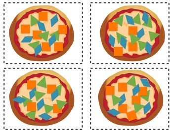 Tangram Pizza Matching Cards
