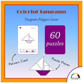Tangram Polygon Game - 60 different puzzles