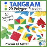 2D Shapes Tangram Puzzle Activities | End of Year