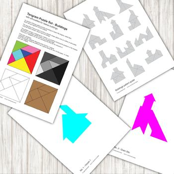 graphic about Tangrams Printable Pdf known as Tangram Puzzle - with 12 designing silhouettes - printable PDF