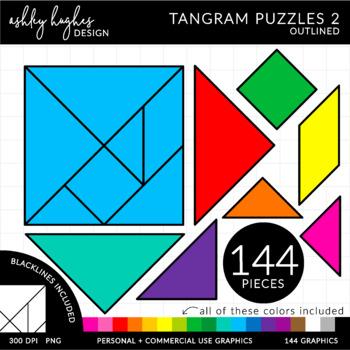 Tangram Outline Solutions | ClipArt ETC