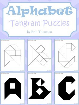 image about Tangram Puzzles Printable referred to as Tangram Puzzles ~ Alphabet