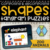 Tangram Shape Puzzles  |  Zoo Animal Boom Cards  |  Composing Shapes