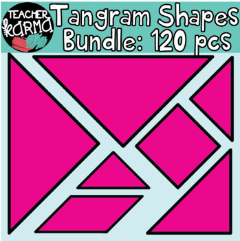 Tangram Shapes BUNDLE: 120 Pieces MATH CLIPART