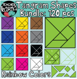 Tangram Shapes Math Clipart