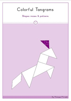 Tangram - Geometry 1: Shapes mazes - Patterns