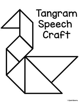 Tangram Speech Therapy Craft {articulation language craftivity}
