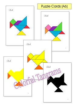Tangram 20 Spring Easter Puzzles Puzzle Cards Amp Math