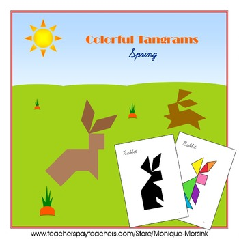 Tangram - 20 Spring / Easter Puzzles - Puzzle Cards and Pieces