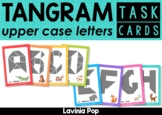 Tangram Task Card Puzzles: Upper Case Letters