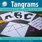 Tangram Task Cards with Alphabet Puzzles