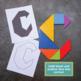 Tangram Task Cards Alphabet