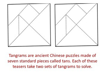 Tangram Teasers - A Partner Activity