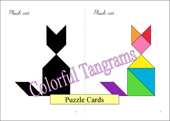 Tangram - 20 'Toy Store' Puzzles - Puzzle Cards and Pieces