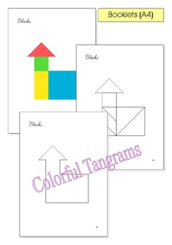 Tangram - 20 'Toy Store' Puzzles - Puzzle Cards & Math Mats