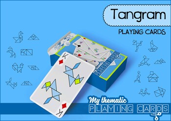Tangram Themed Playing Cards Deck