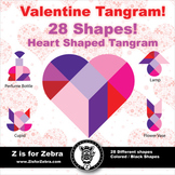Tangram - Valentine Tangram Heart {Z is for Zebra}