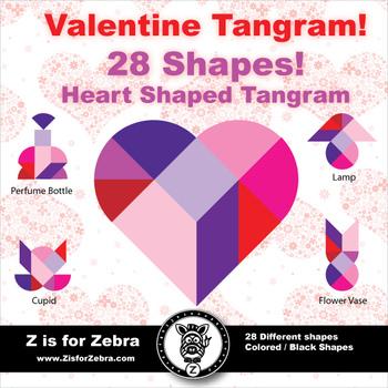 Tangram - Valentine Tangram Heart {Z is for Zebra}