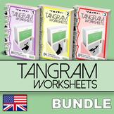 Tangram Worksheets - BUNDLE
