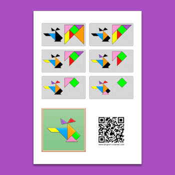 Tangram Worksheets VOL.1 - 84 double-sided worksheets