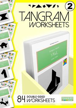 Tangram Worksheets VOL.2 - 84 double-sided worksheets