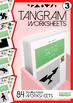 Tangram Worksheets VOL.3 - 84 double-sided worksheets