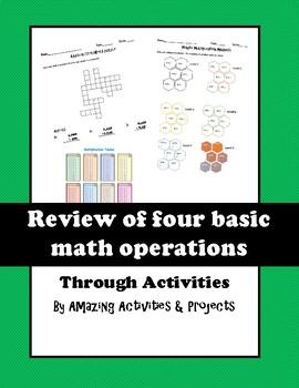 Four basic math operations