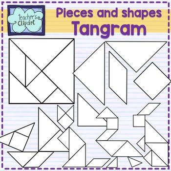 Tangram pieces - puzzle clip art