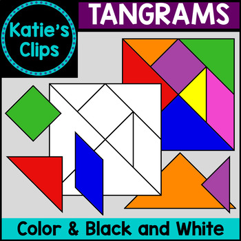 Tangrams {Katie's Clips Clipart}
