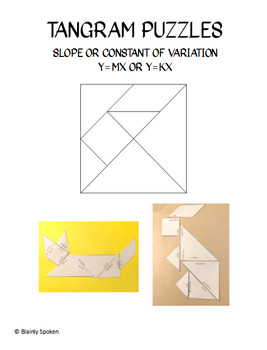 Tangram Slope and Constant of Variation